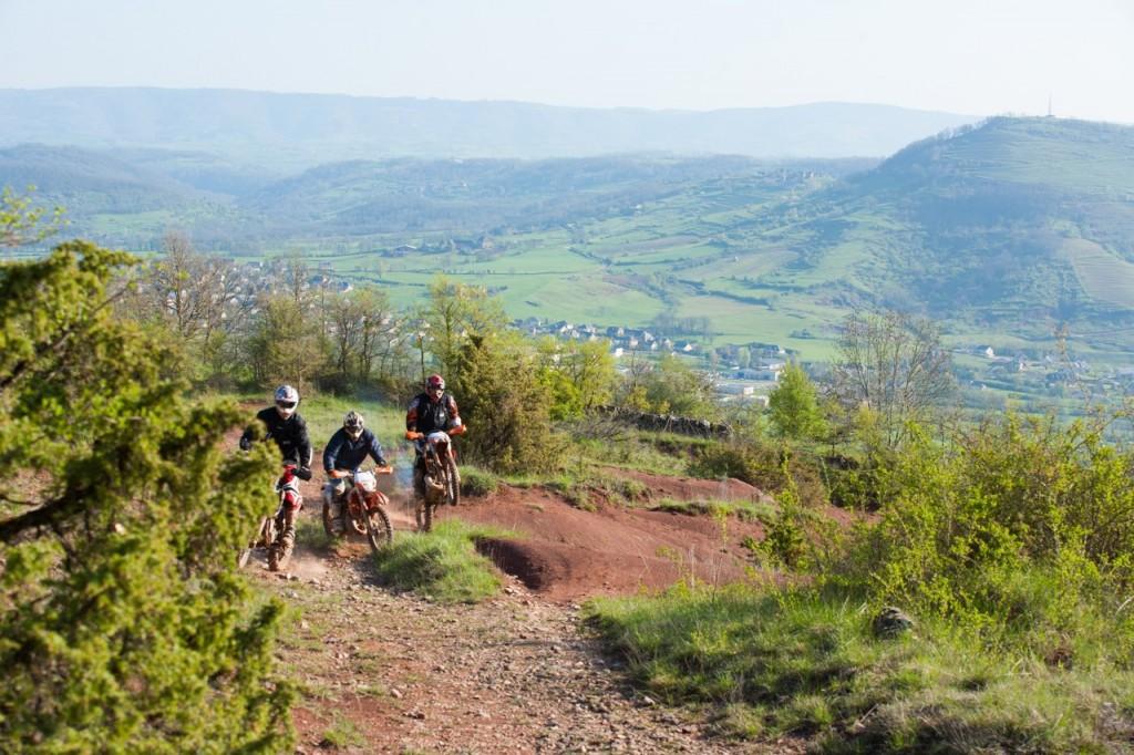 Rando moto enduro Aveyron